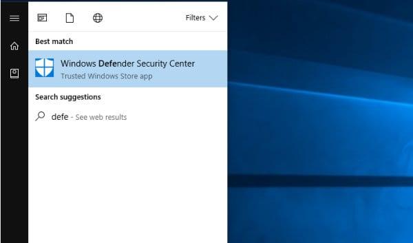open-windows-defender-start-menu