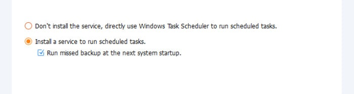 aomei task scheduling options