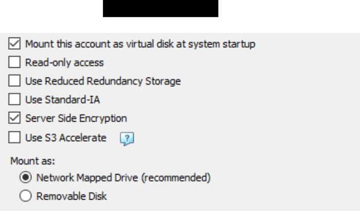 cloudberry drive add new drive advanced options