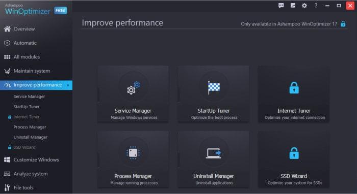 winoptimizer free improve performance tools