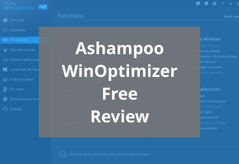 Ashampoo Winoptimizer Free Review Featured Mage