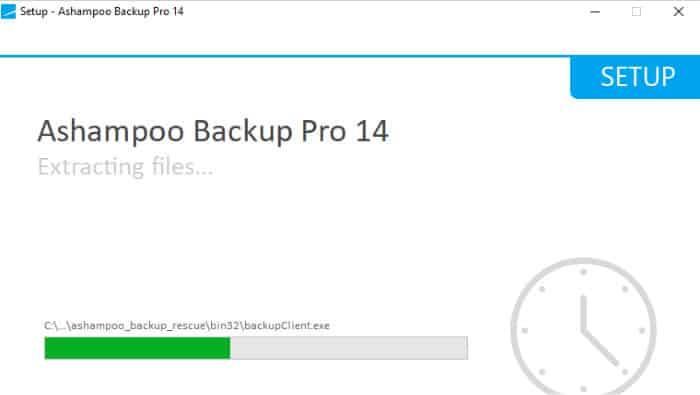 ashampoo backup pro 14 install screen