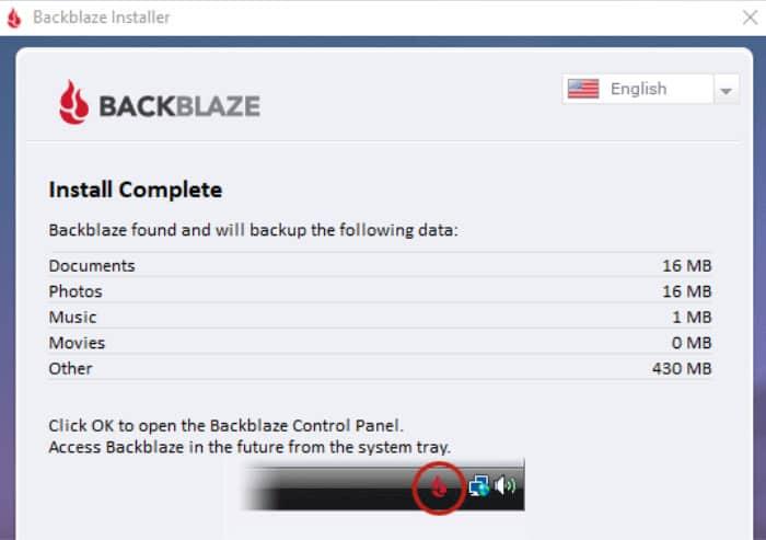 backblaze review automatic file selection