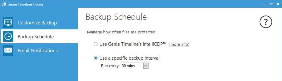 genie timeline scheduling screen