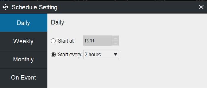shadowmaker scheduling options tool