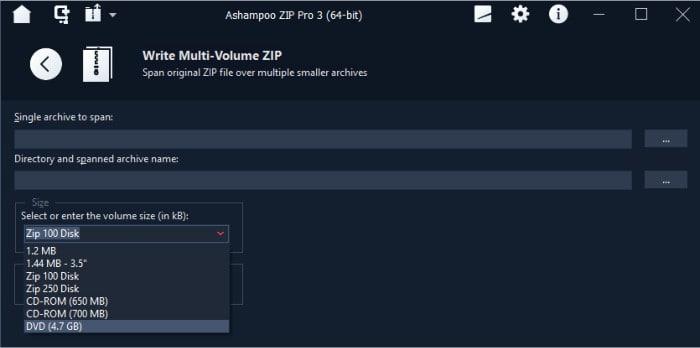 zip pro 3 span multi volume