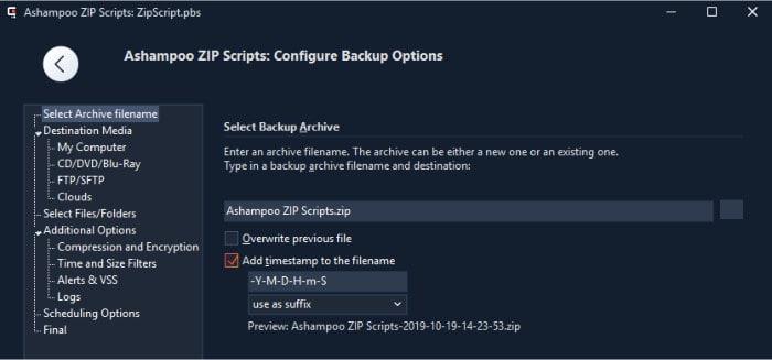 zip pro 3 zip script tool