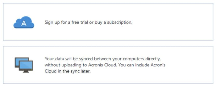 acronis true image local or cloud sync