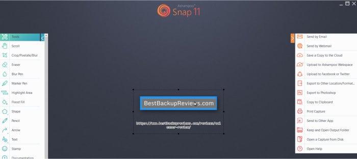 snap 11 image editing screen