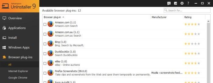 ashampoo uninstaller 9 browser plugins