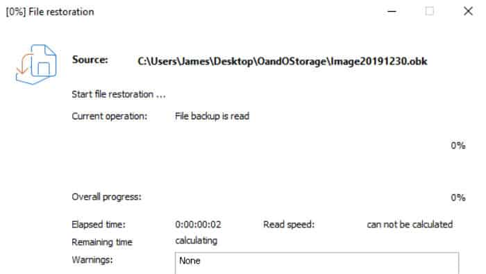 o&o diskimage 15 restore operation