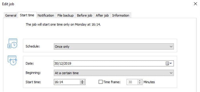 o&o diskimage 15 scheduling settings