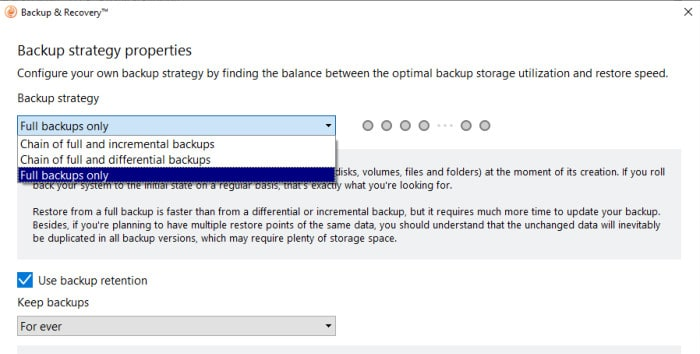 backup and recovery backup stratergy options