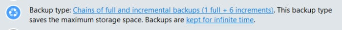 backup and recovery backups kept for infinate time message