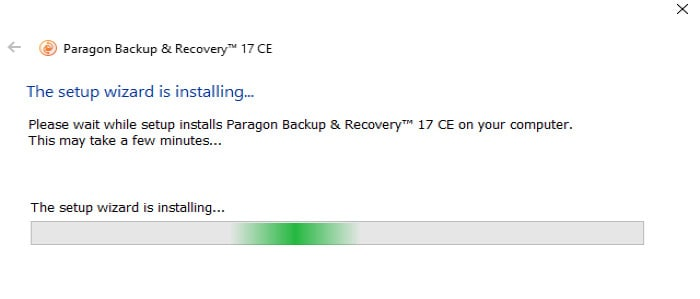 paragon backup and recovery instalation