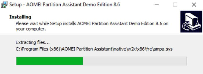 aomei partition assistant installation