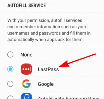 lastpass review android autofil settings