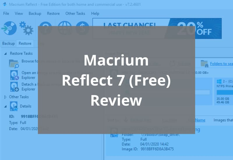 Macrium Reflect 7 Free Review Featured Image