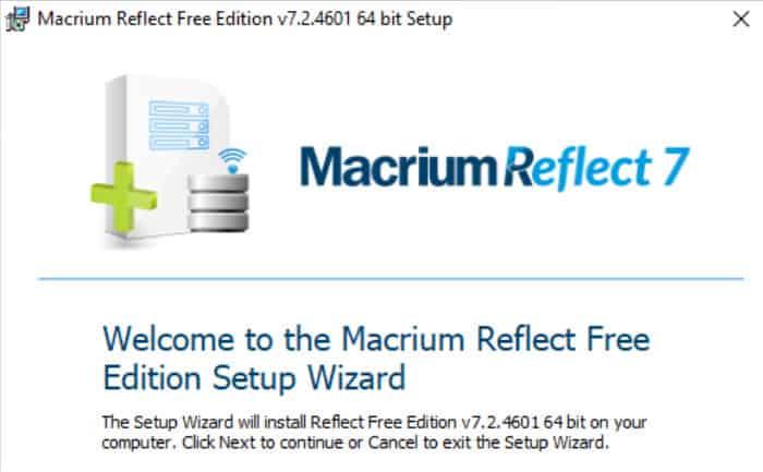 macrium reflect 7 installer