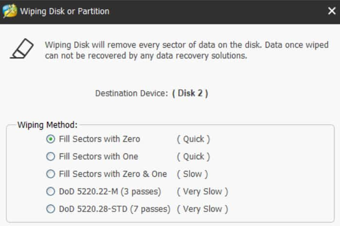 minitool partition wizard disk wiping tool