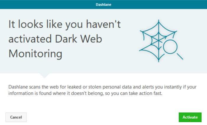 dashlane review dark web monitoring