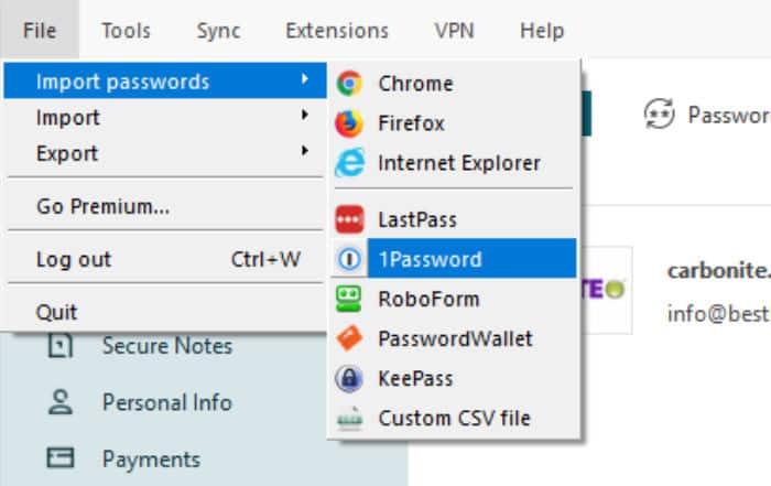 dashlane review import passwords