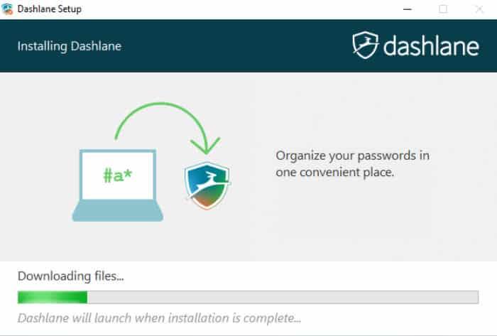 dashlane review installer downloading