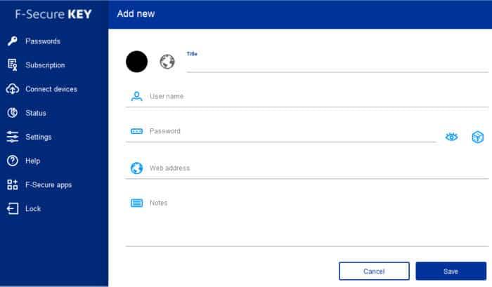 f-secure key add new login