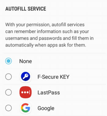 f-secure key android autofill
