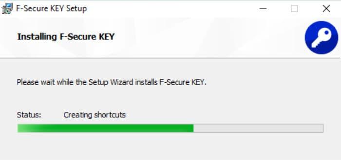 f-secure key installer running