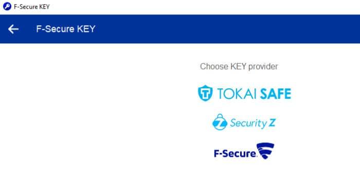 f-secure key premium subscription providers