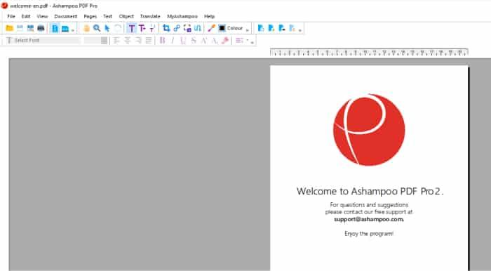 ashampoo pdf pro 2 initial screen