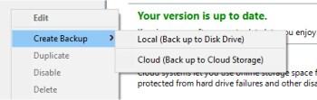 bitreplica local or cloud backup