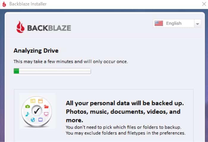 backblaze installer scanning