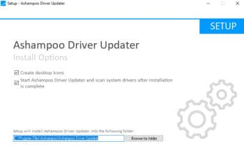 driver updater installer running