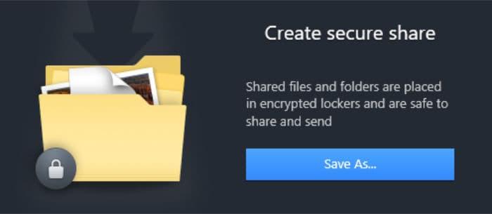 nordlocker create secure share screen