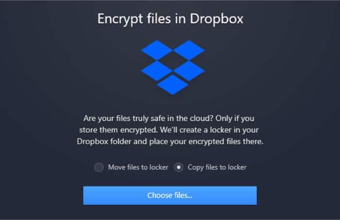 nordlocker encrypt files in dropbox