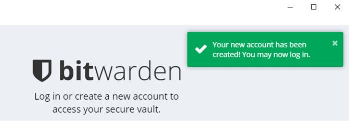 bitwarden review free account created