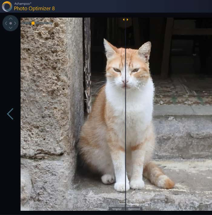 photo optimizer 8 preview slider in use