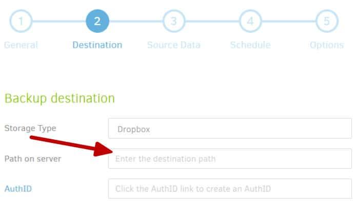duplicati backup dropbox integration folder naming