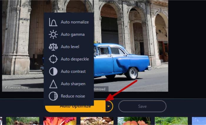 photo optimizer 8 auto optimize menu