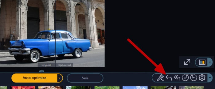 photo optimizer 8 auto optimize undo button