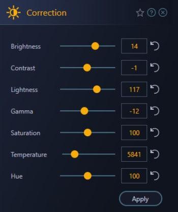 photo optimizer 8 brightness settings