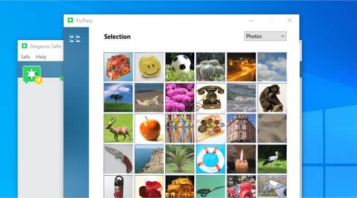 steganos safe create new picture password