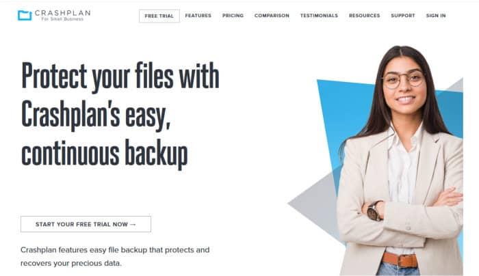 choosing the best cloud backup - crashplan website