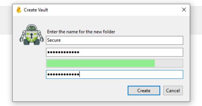 cyberduck create new secure vault password
