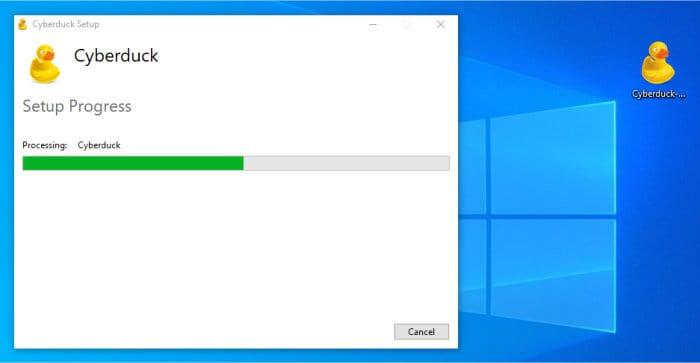 cyberduck installer running