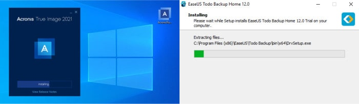 true image vs todo backup home installers