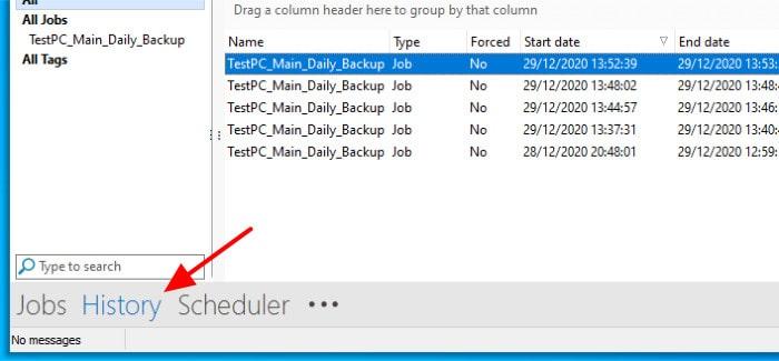backup4all backup job log
