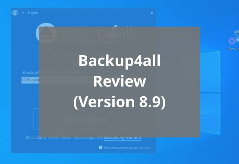 backup4all v8.9 review featured image